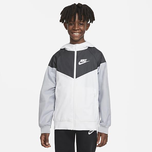 White//Dark Blue Small HEAD Kids Club Boys Jacket