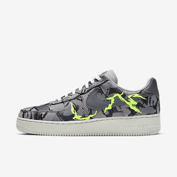 scarpe nike air force 1 07 verdi nere