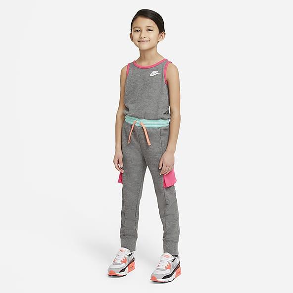 Short Sleeve T-Shirt and Fleece Jogger Sweatpants Romper bebe Girls Active Jumpsuit
