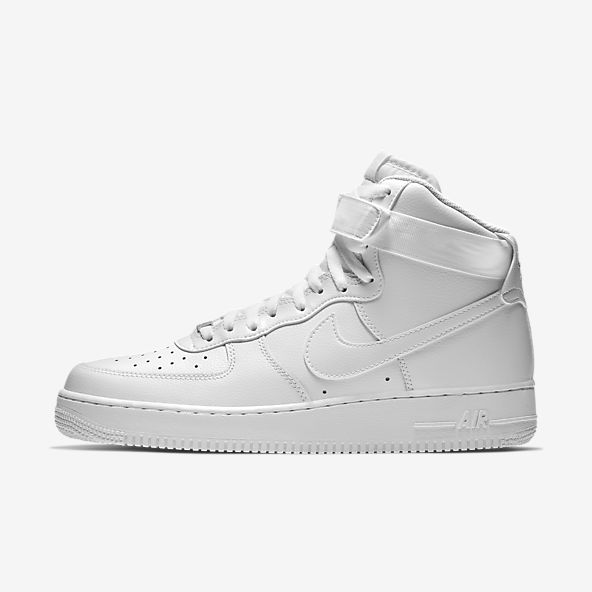 White Air Force 1 High Top Shoes. Nike.com