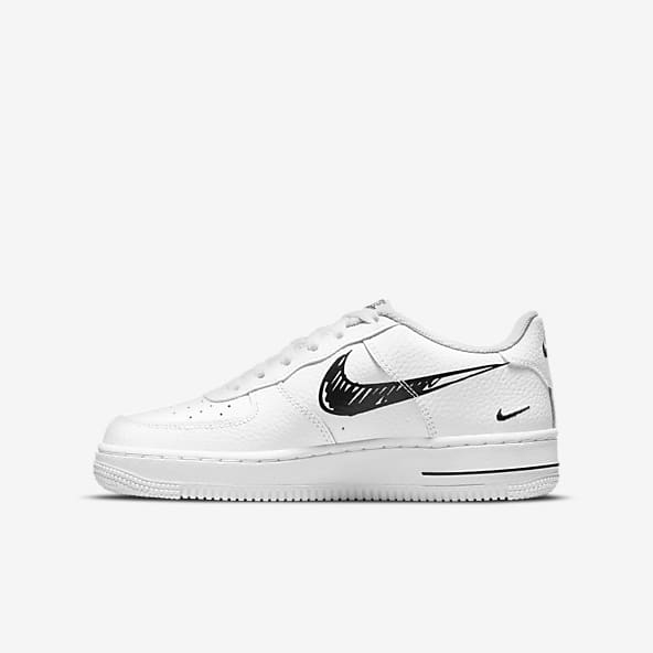 Filles Air Force 1 Chaussures basses Chaussures. Nike LU