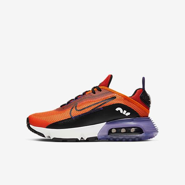 Enfant Orange Chaussures. Nike LU