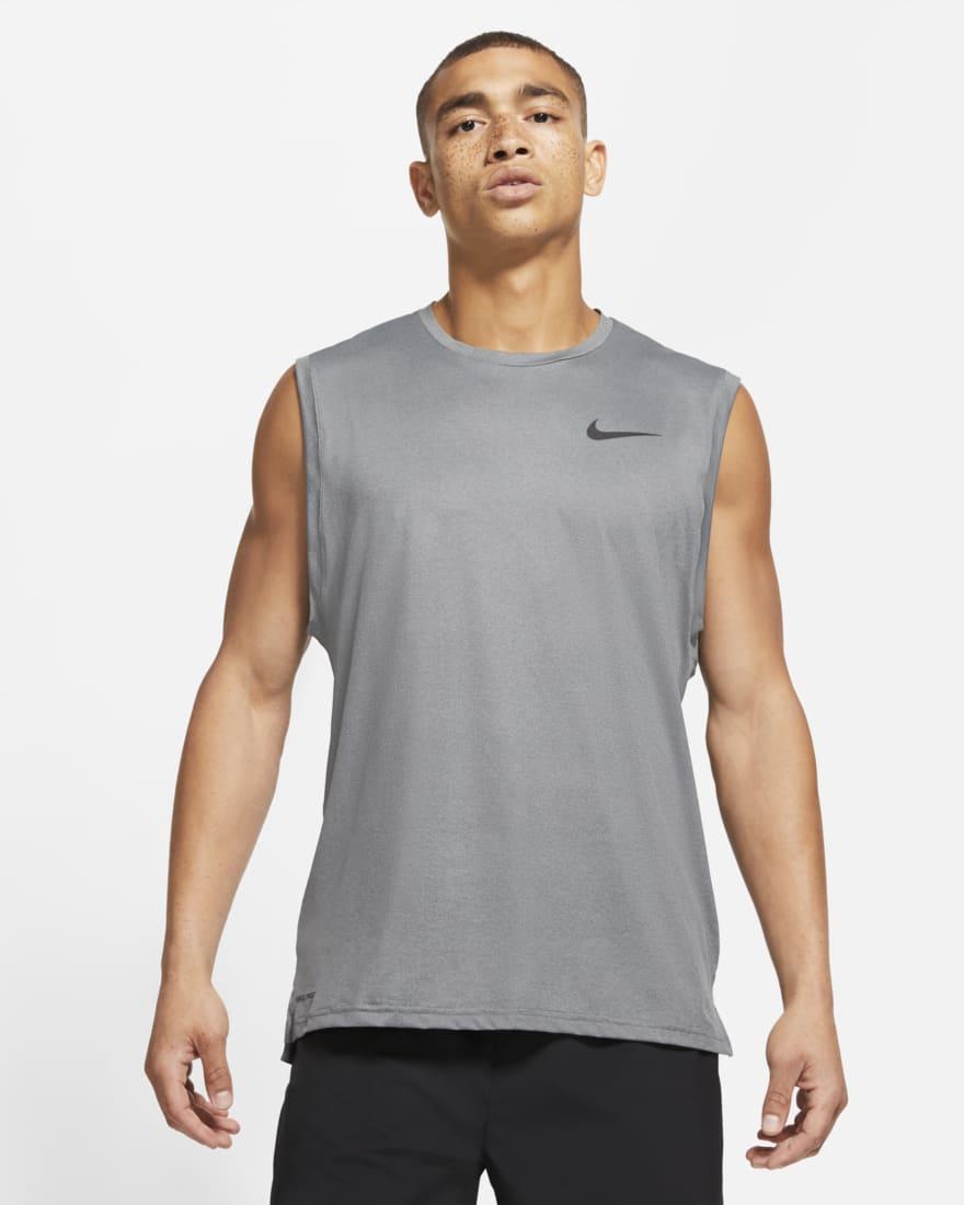 나이키 프로 드라이핏 Nike Pro Dri-FIT,Black/Smoke Grey/Heather/Black