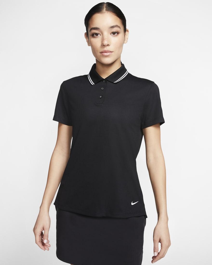 나이키 골프 여성 드라이핏 빅토리 Nike Dri-FIT Victory,Black/White/White