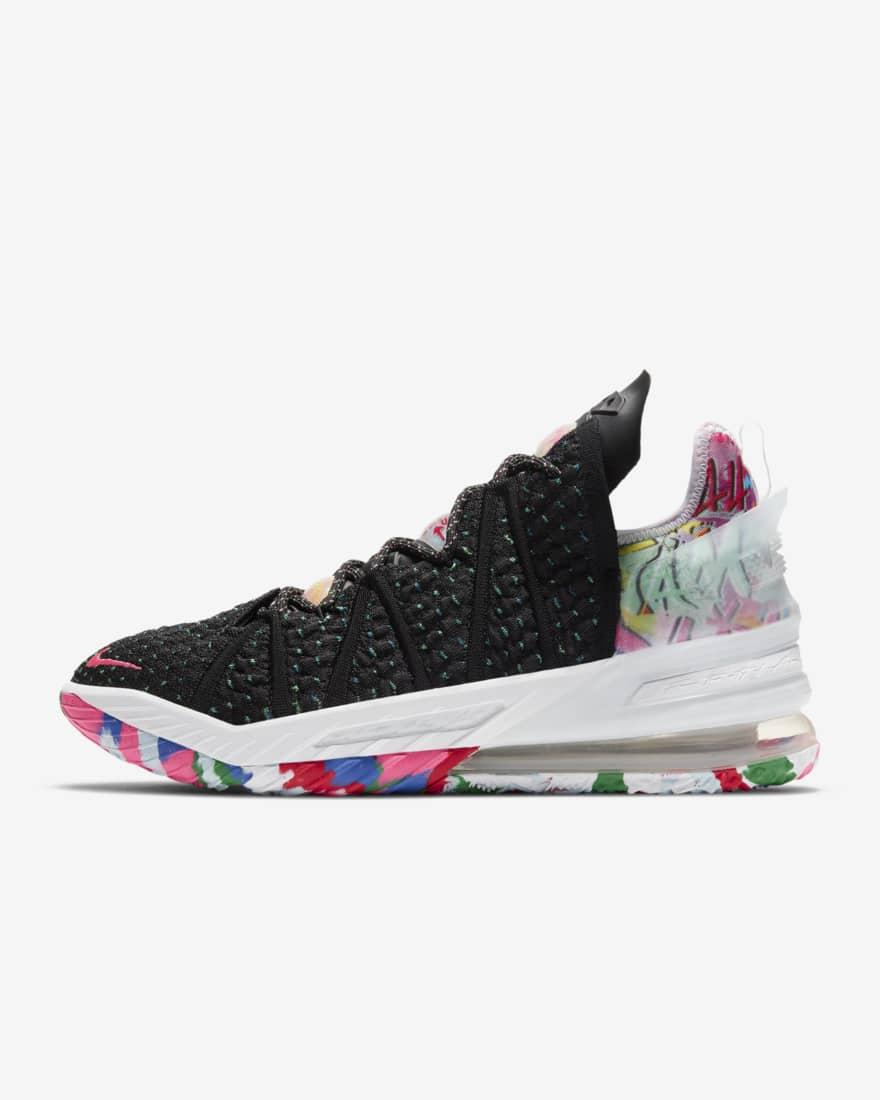 나이키 르브론18 CQ9283-002 Nike LeBron 18,Black/Multi-Color/White