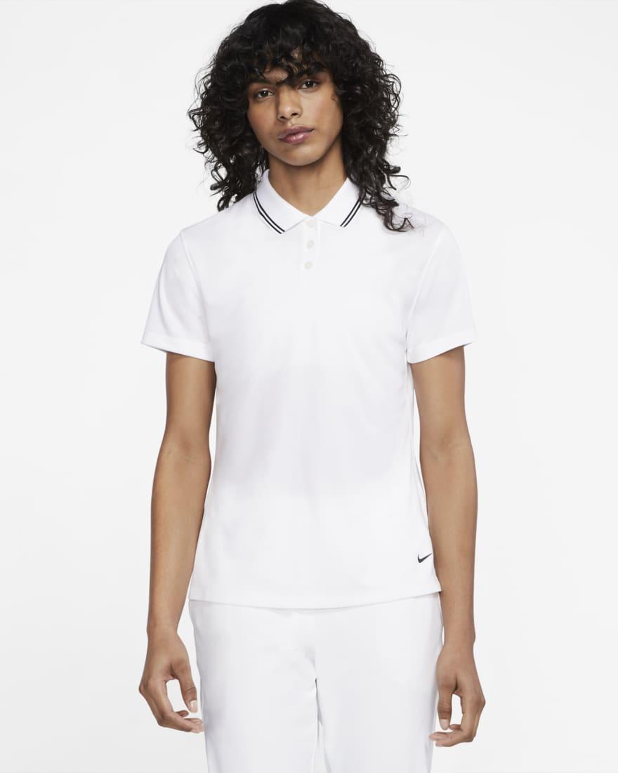 나이키 골프 여성 드라이핏 빅토리 Nike Dri-FIT Victory,White/Black/Black