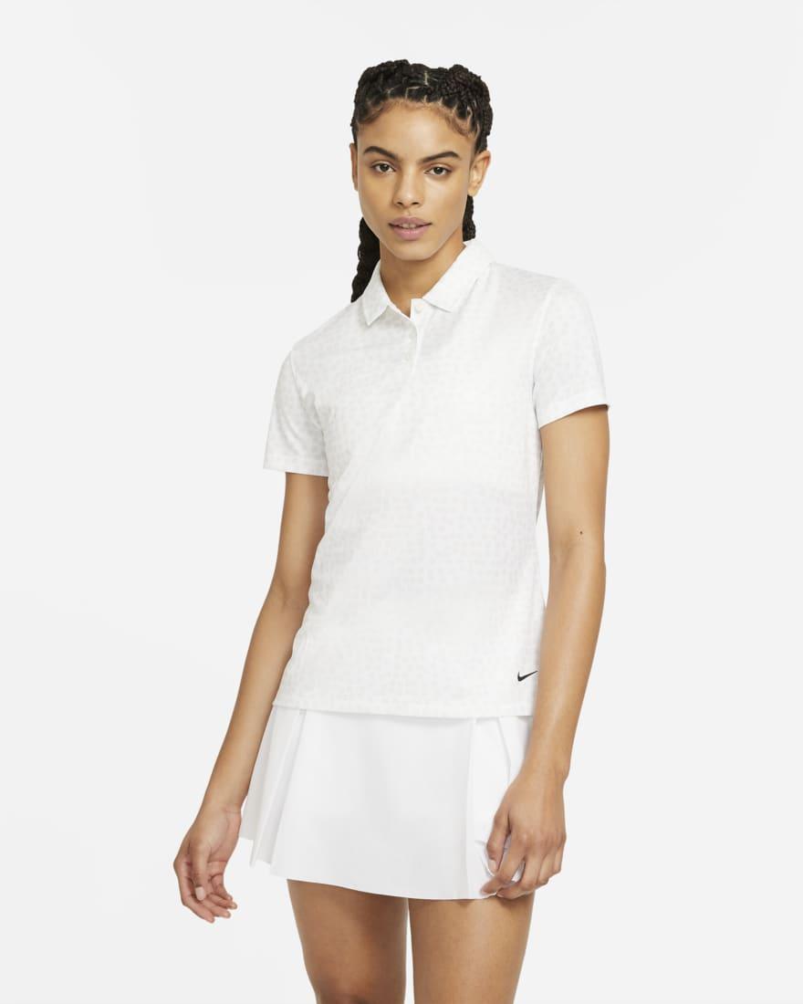 나이키 골프 여성 드라이핏 폴로 Nike Dri-FIT,White/Black