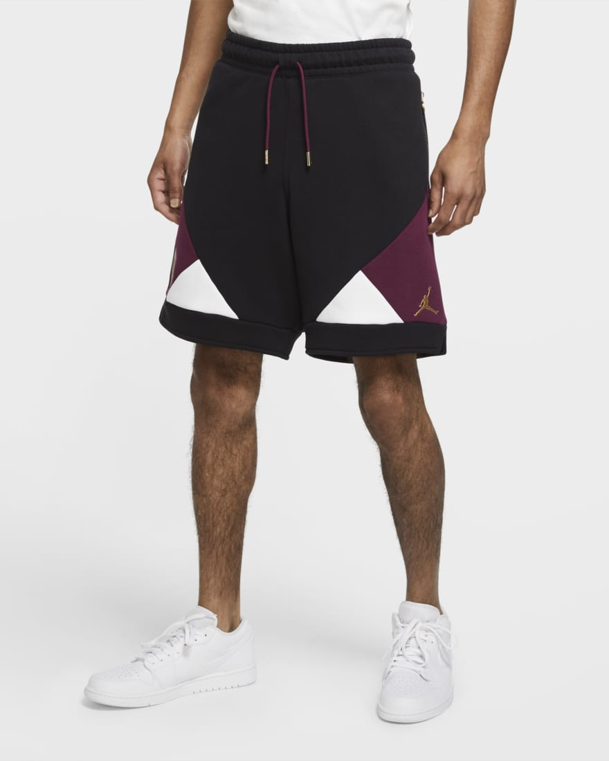 조던 X PSG(파리생제르망) 반바지 CK9758-010 Nike Paris Saint-Germain Men's Shorts,Black/Bordeaux/White/Metallic Gold