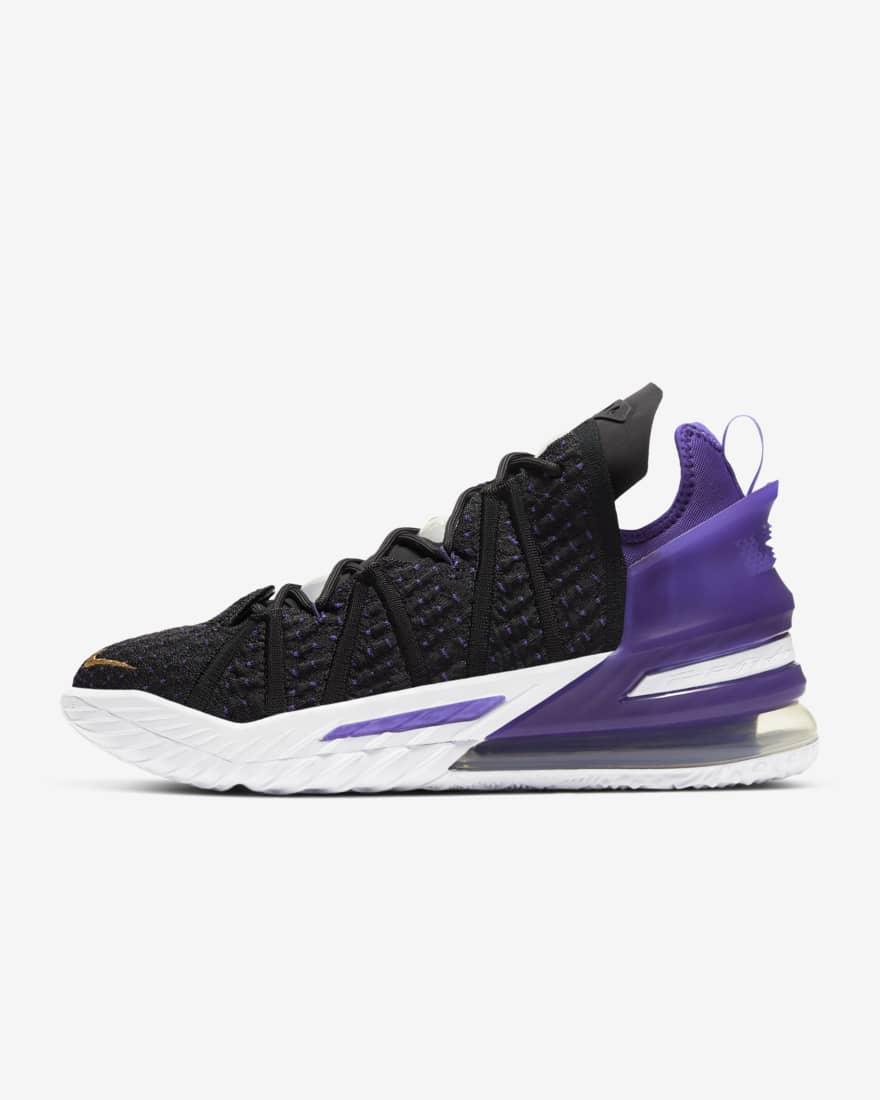 나이키 르브론18 CQ9283-004 Nike LeBron 18,Black/Court Purple/White/Metallic Gold