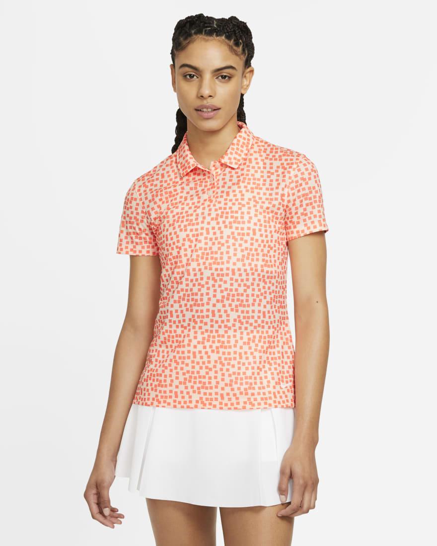 나이키 골프 여성 드라이핏 폴로 Nike Dri-FIT,Crimson Tint/White