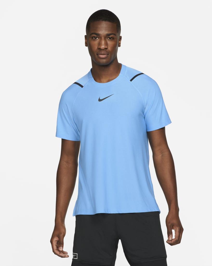 나이키 프로 반팔 Nike Pro,Coast/Heather/Black