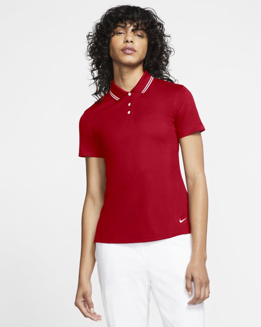 나이키 골프 여성 드라이핏 빅토리 Nike Dri-FIT Victory,University Red/White/White