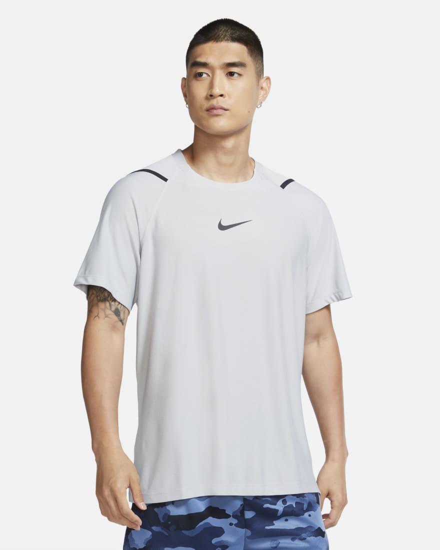나이키 프로 반팔 Nike Pro,Light Smoke Grey/Heather/Black
