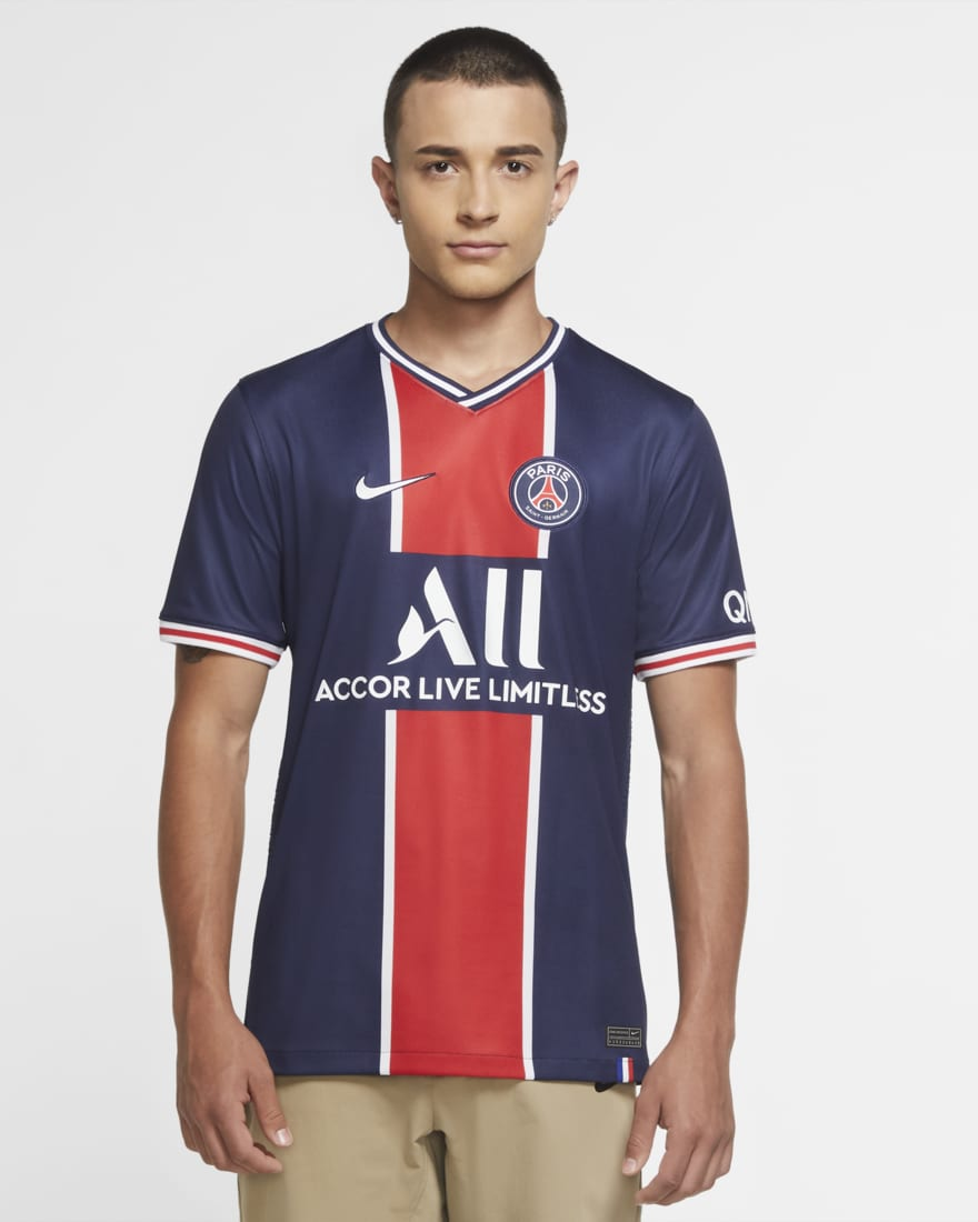 조던 X PSG(파리생제르망) 2020/21 홈 저지 티셔츠 CD4242-411 Nike Paris Saint-Germain 2020/21 Stadium Home,Midnight Navy/White