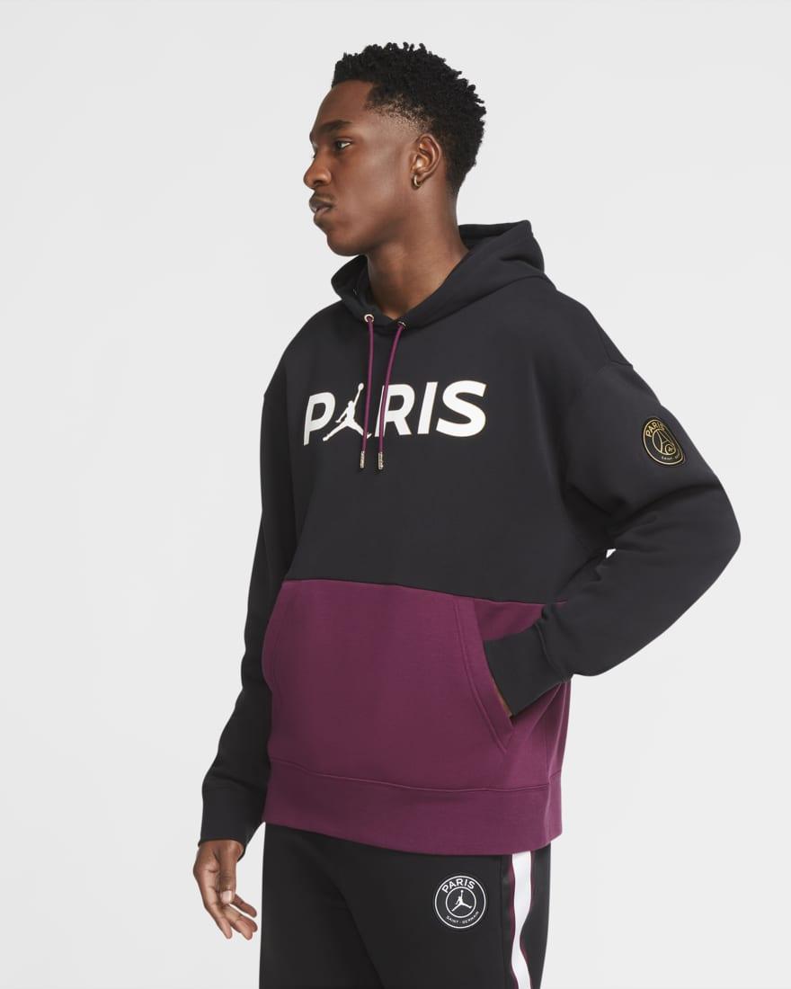 조던 X PSG(파리생제르망) 후디 CK9773-010 Nike Paris Saint-Germain,Black/Bordeaux/Metallic Gold/White