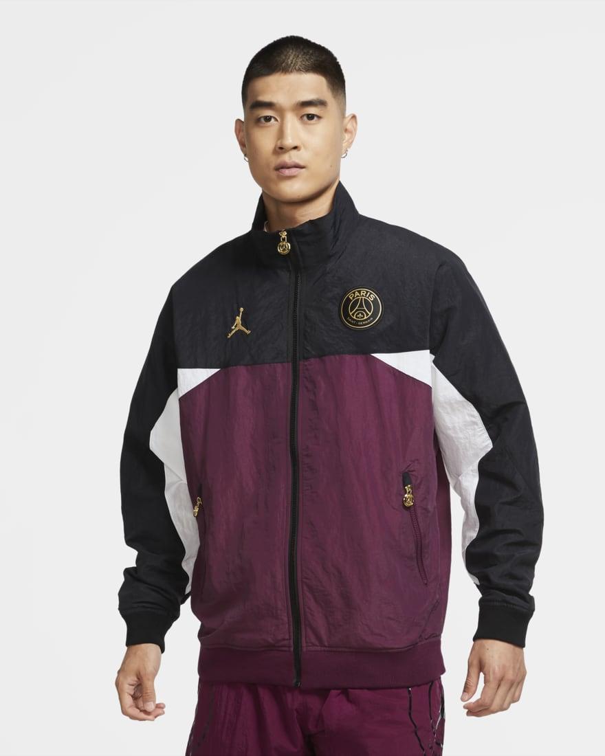 조던 X PSG(파리생제르망) 바람막이 자켓 CK9594-010 Nike Paris Saint-Germain Men's Anthem Jacket,Black/Bordeaux/White/Metallic Gold