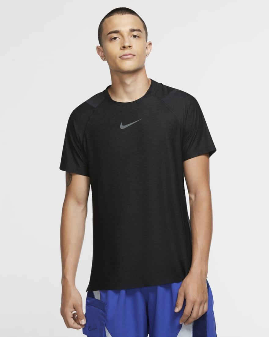 나이키 프로 반팔 Nike Pro,Black/Heather/Iron Grey