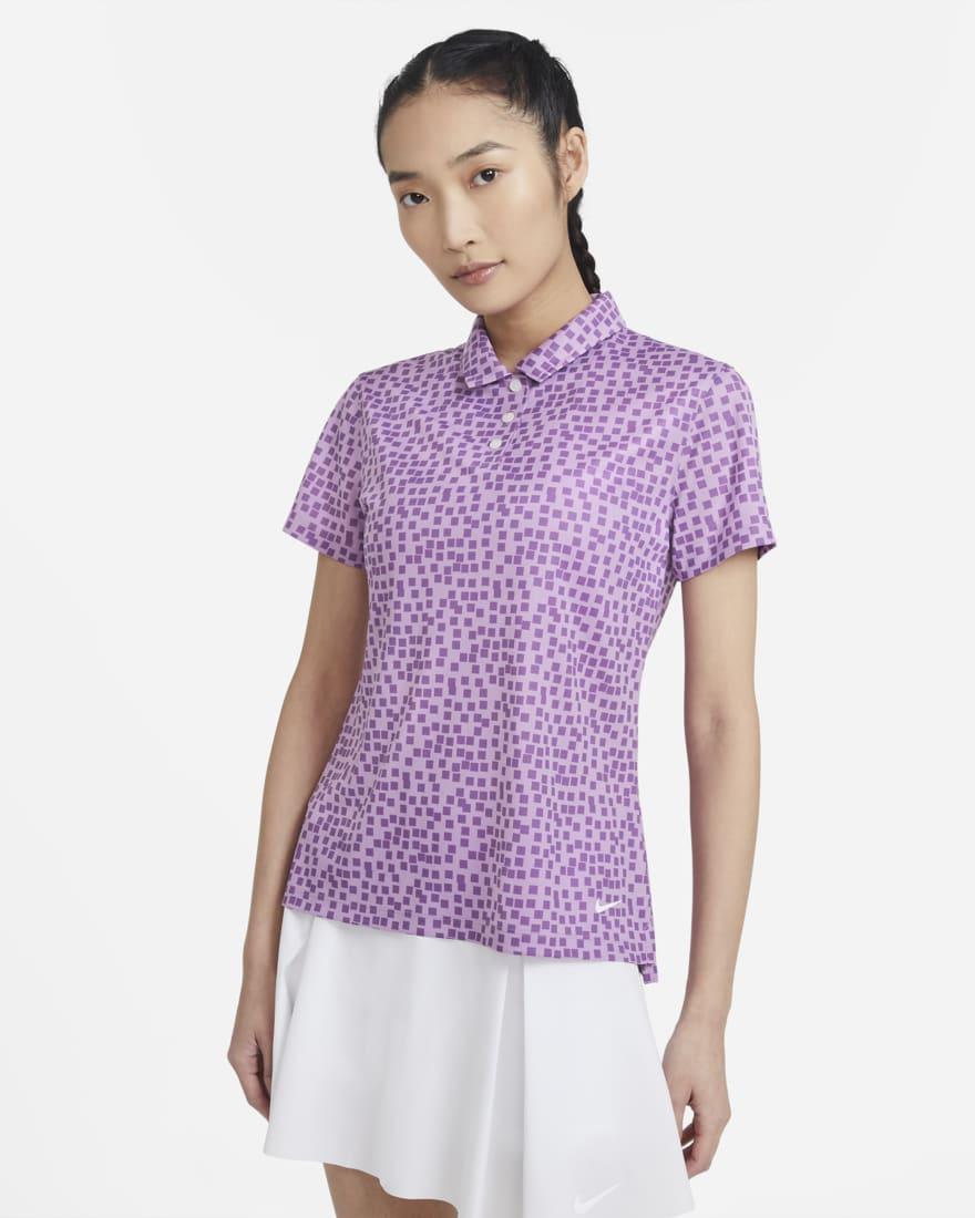 나이키 골프 여성 드라이핏 폴로 Nike Dri-FIT,Violet Shock/White