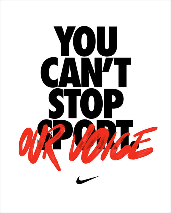 You Can't Stop Our Voice. Nike.com