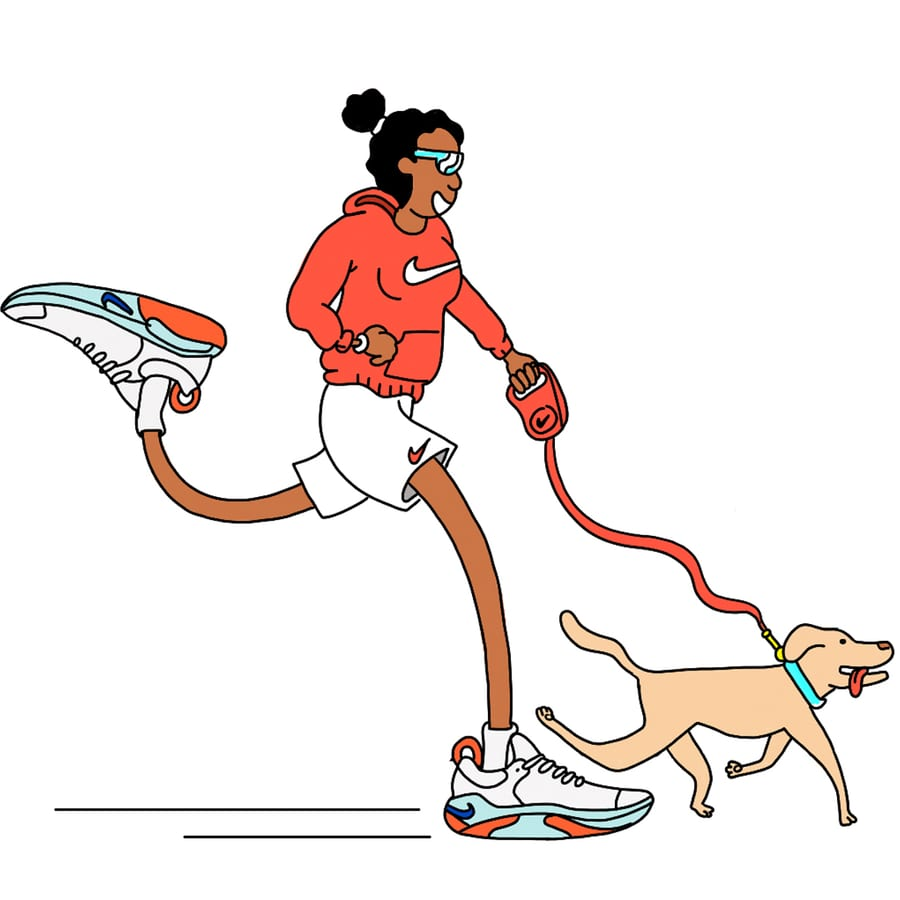 Cómo correr con tu perro. Nike FR