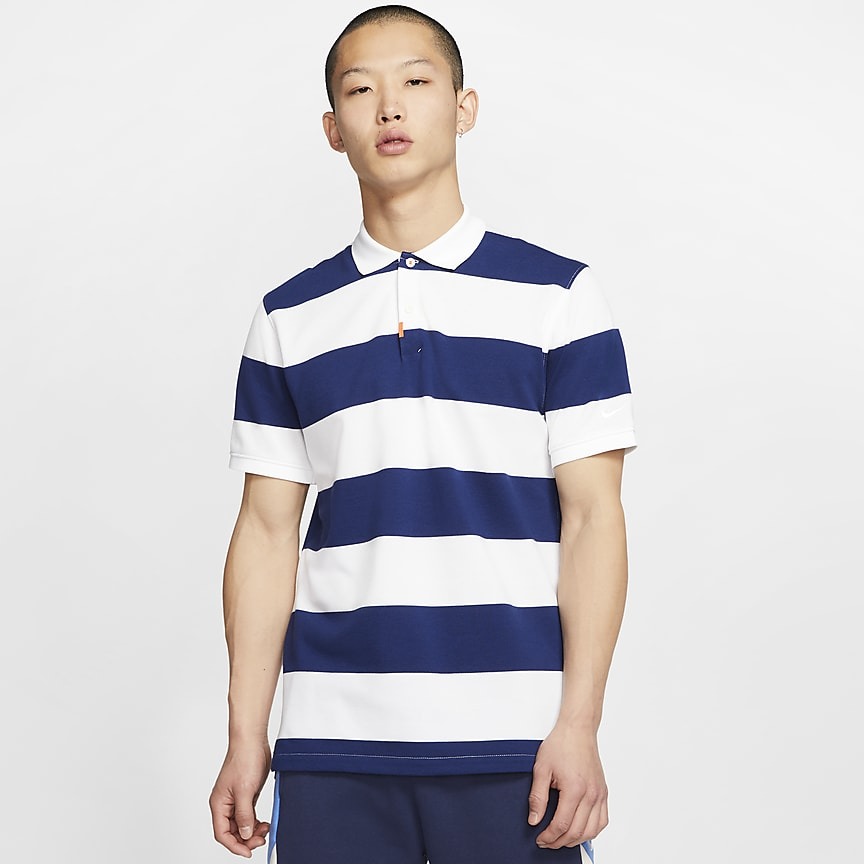 Unisex Striped Polo