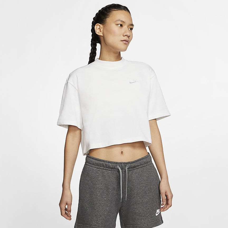 Kortärmad tröja i jersey för kvinnor