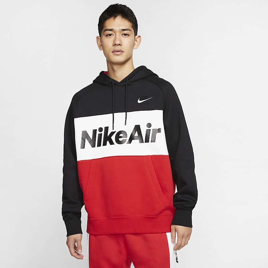 Felpa pullover in fleece con cappuccio Nike Air Uomo. Nike IT