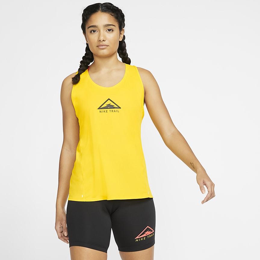 Camiseta de tirantes de running para trail para mujer