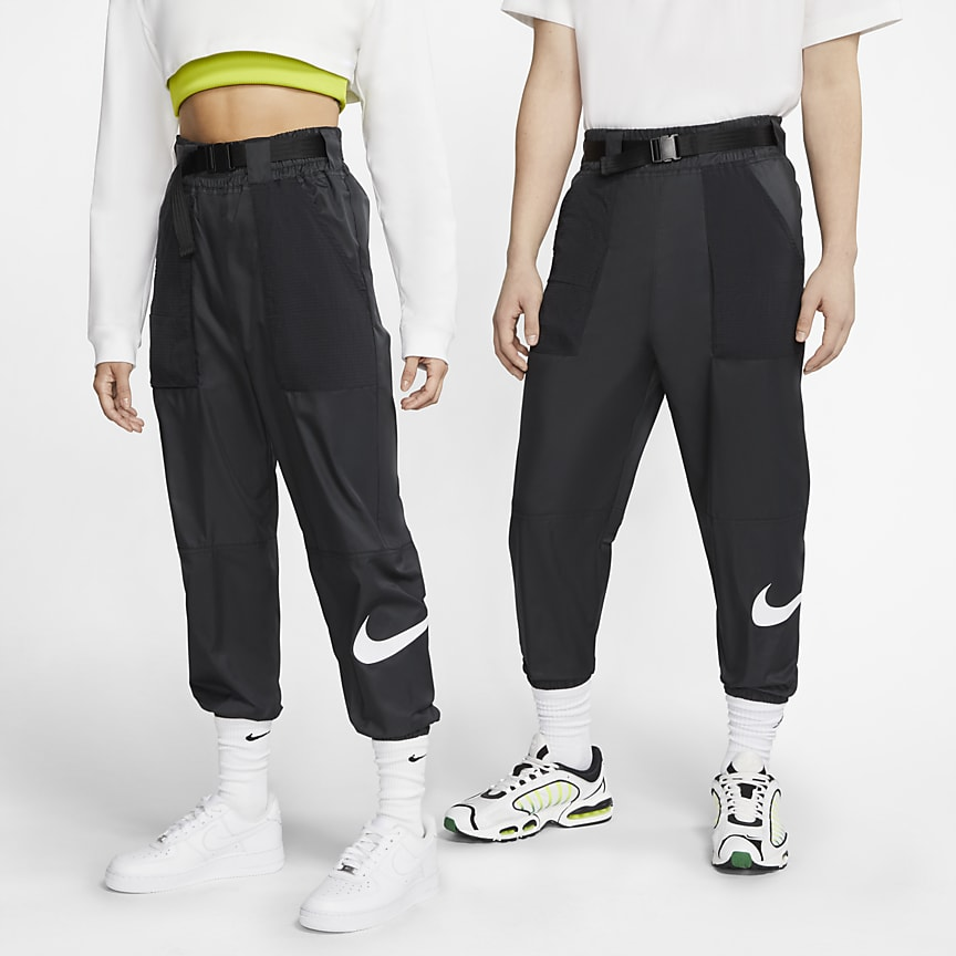 Woven Swoosh Trousers