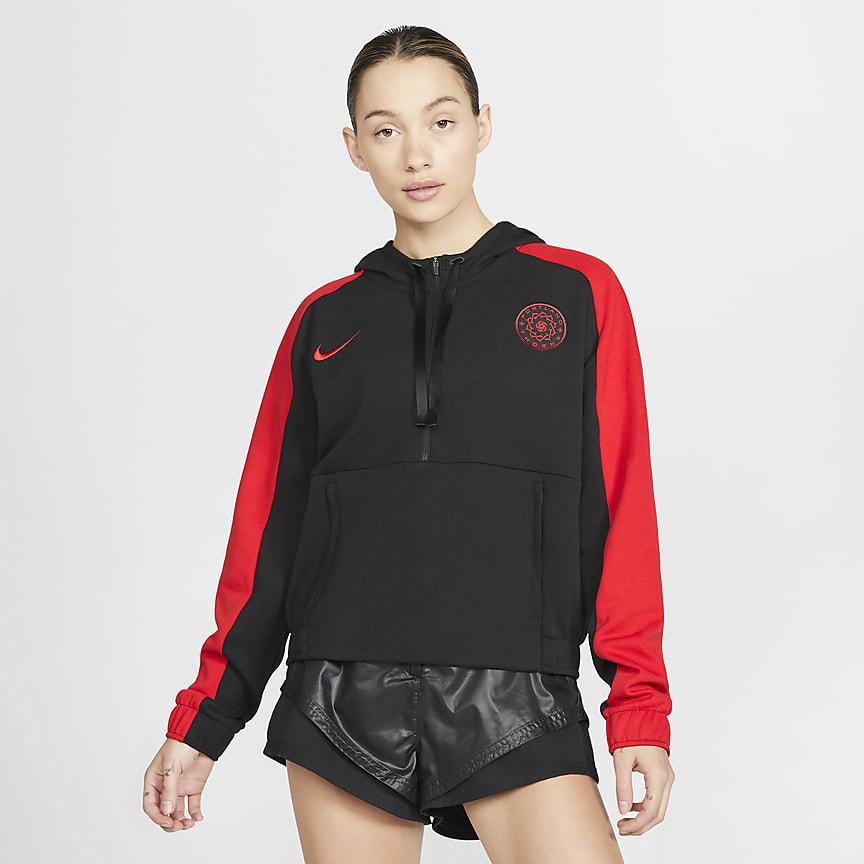 Women's Cropped 1/2-Zip Soccer Hoodie