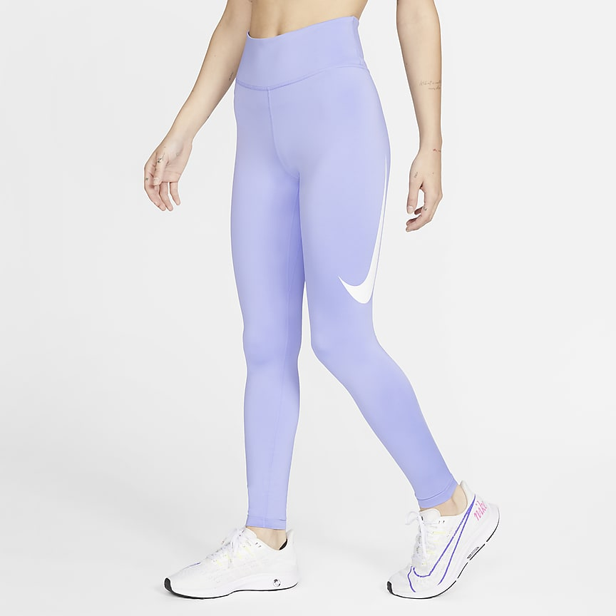 Tights da running a 7/8 a vita media - Donna