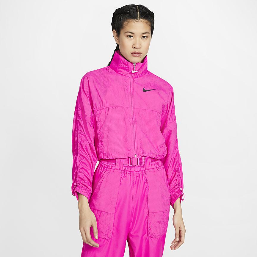 Женская куртка из тканого материала