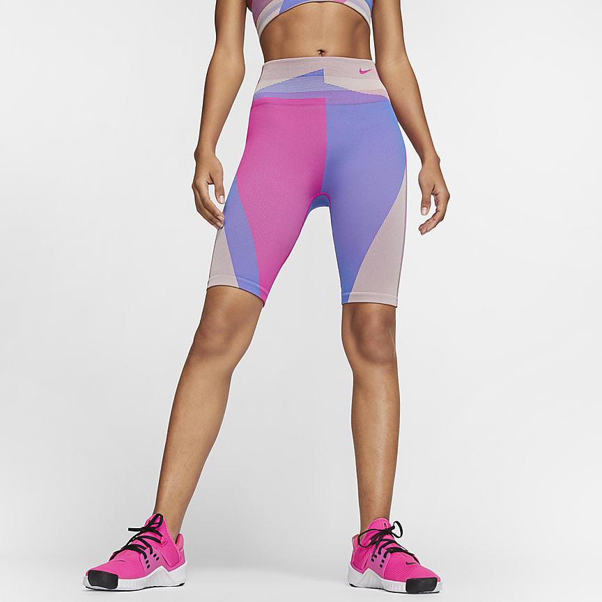 Женские бесшовные шорты для тренинга 20 см