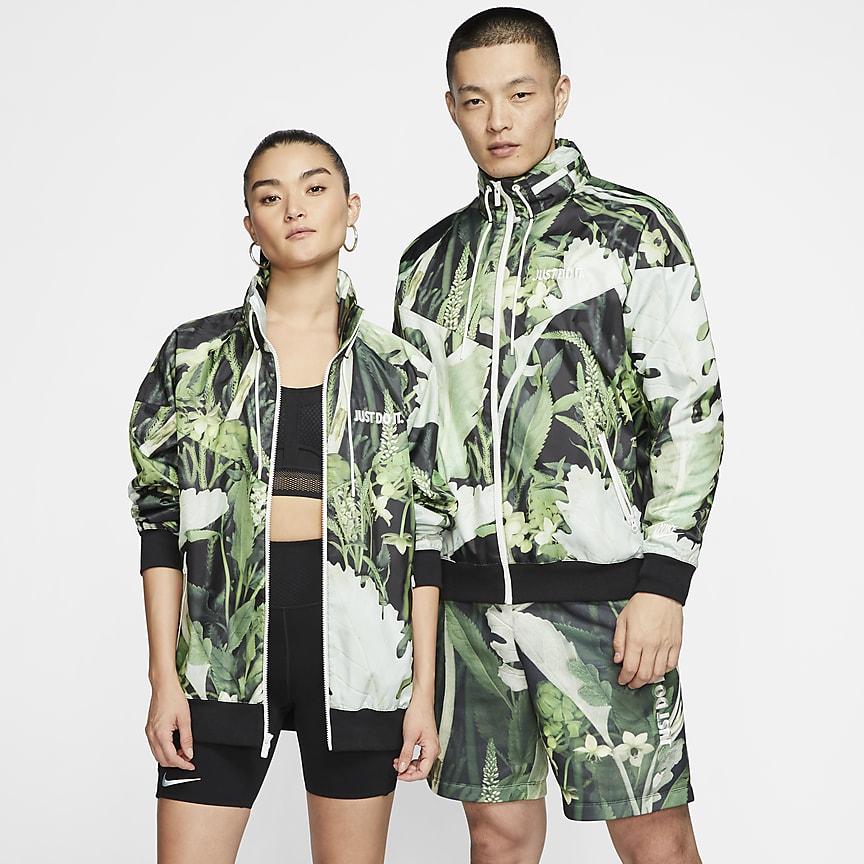 Куртка из тканого материала с цветочным принтом