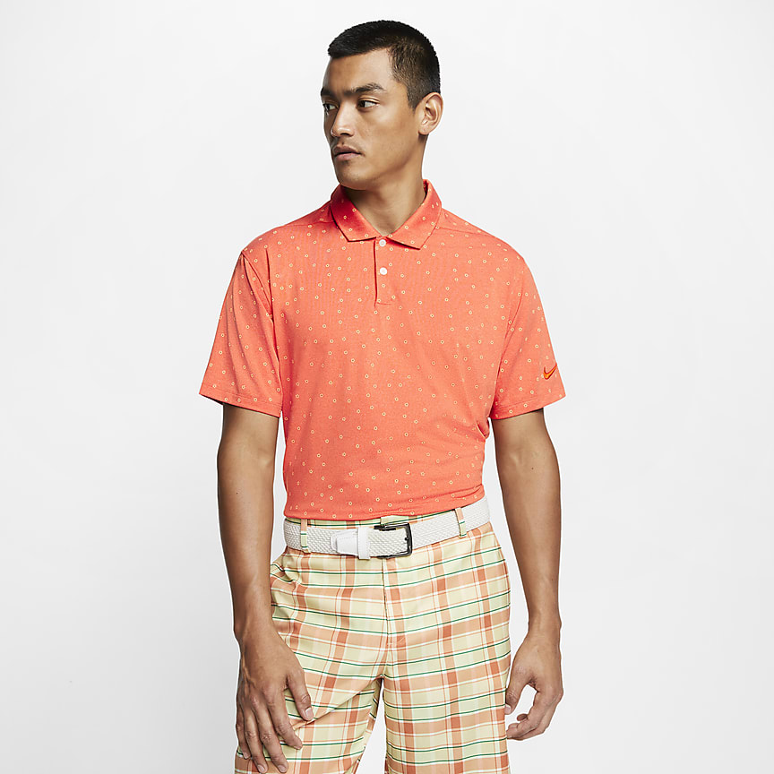 Men's Printed Golf Polo