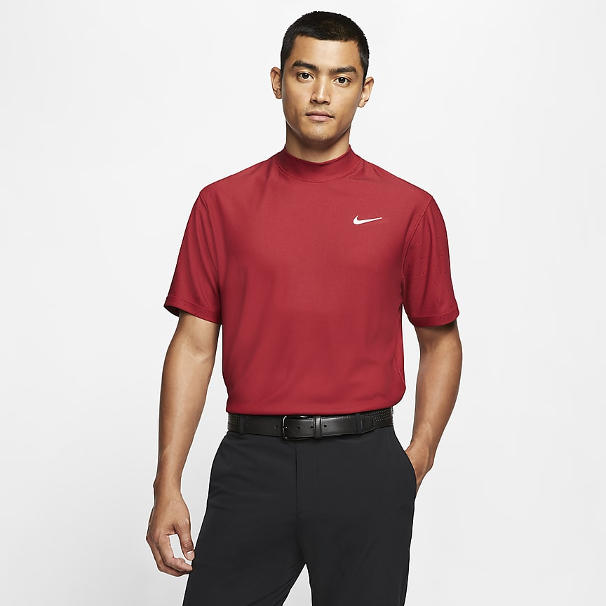 Men's Mock-Neck Golf Top