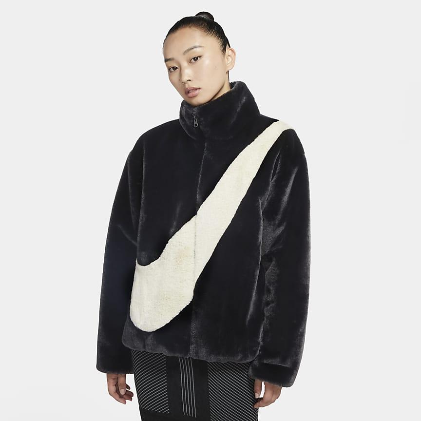 Damska kurtka ze sztucznego futra