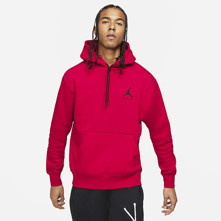 Felpa pullover in fleece con cappuccio - Uomo