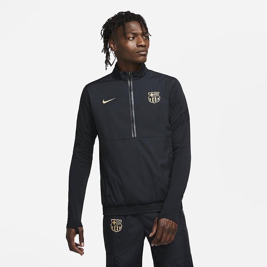 Gewebte Fußball-Track-Jacket mit Halbreißverschluss für Herren