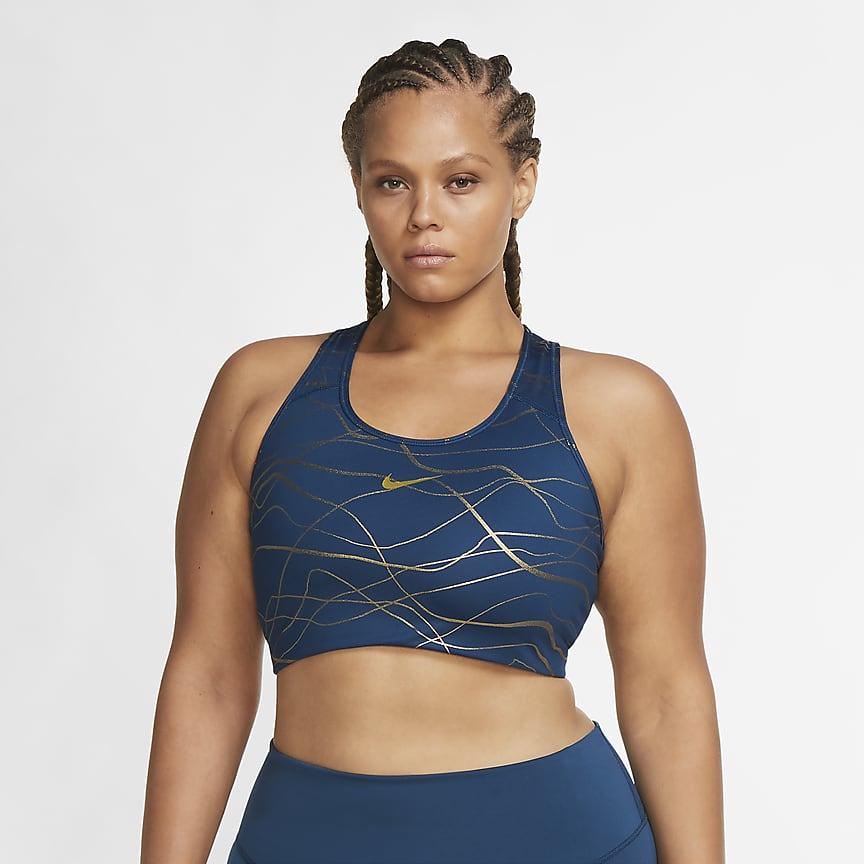 Women's Medium-Support Non-Padded Printed Sports Bra (Plus Size)