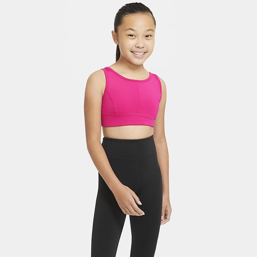 Older Kids' (Girls') Longline Sports Bra