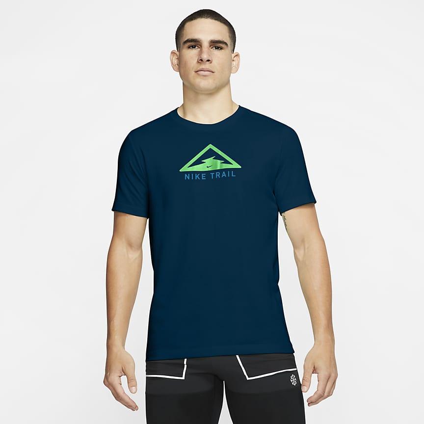 T-shirt de running para trilhos para homem