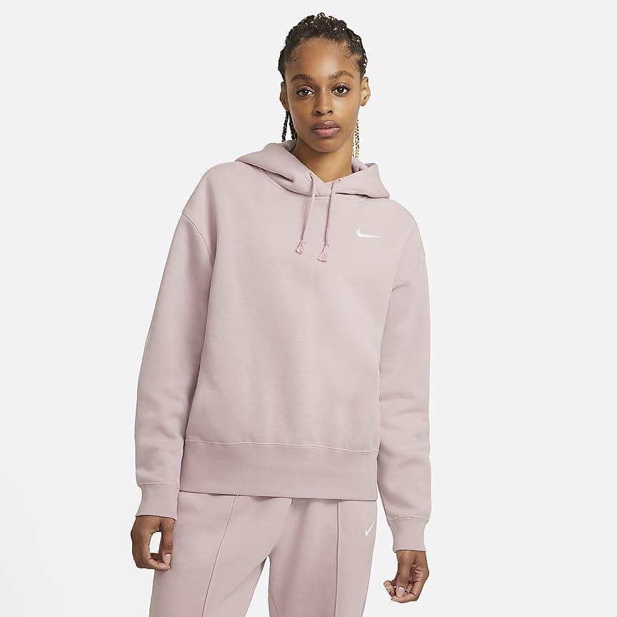 Hættetrøje i fleece til kvinder