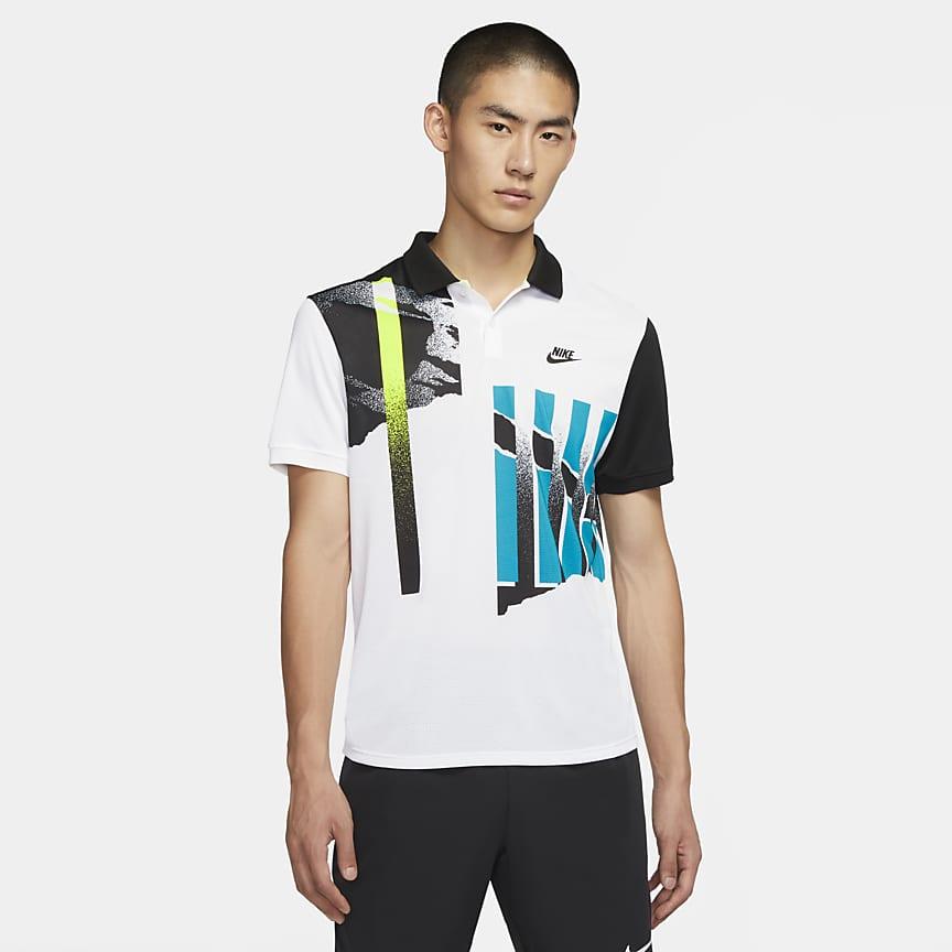 男子网球翻领T恤
