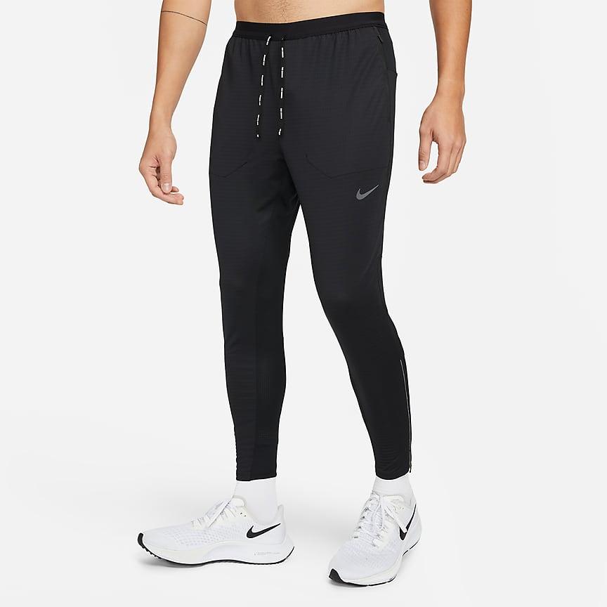 男子针织跑步长裤