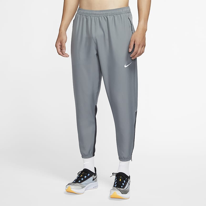Męskie spodnie do biegania z tkaniny