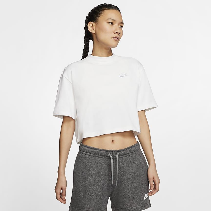Camiseta de manga corta con tejido de punto - Mujer