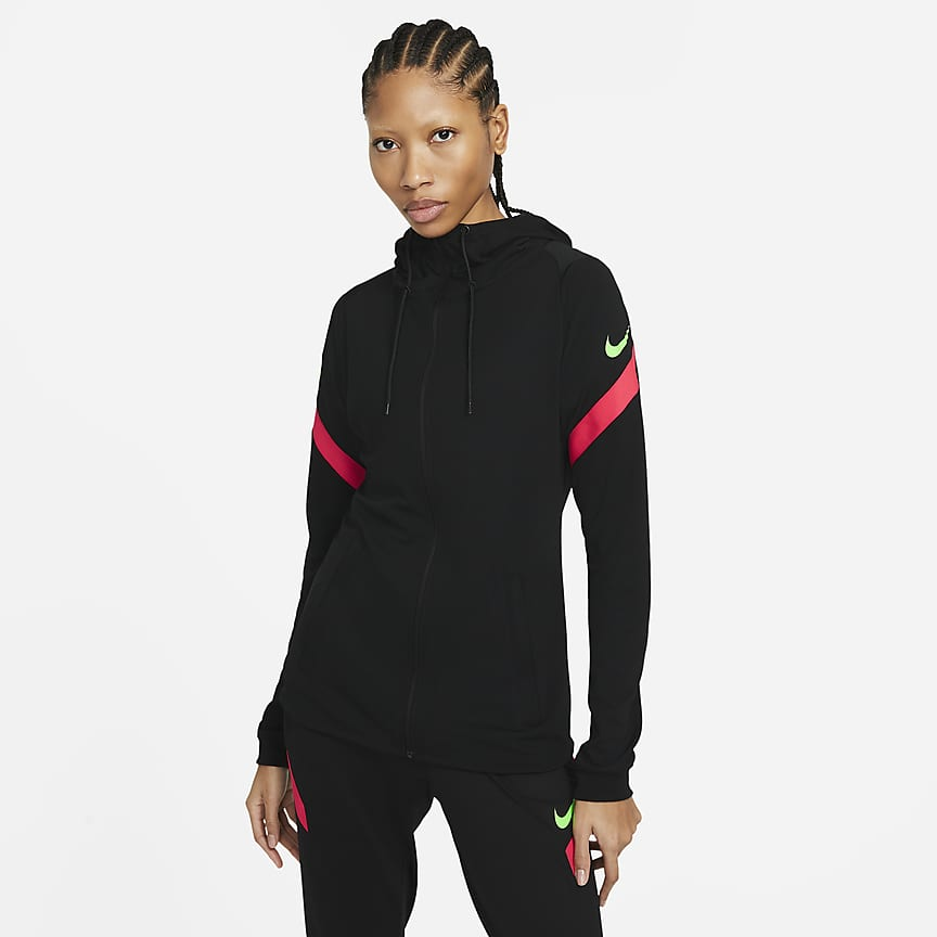Women's Full-Zip Hooded Soccer Jacket