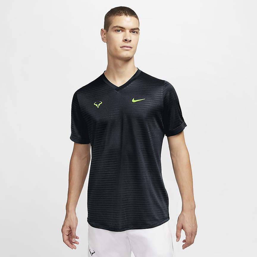 Kortærmet tennisoverdel til mænd