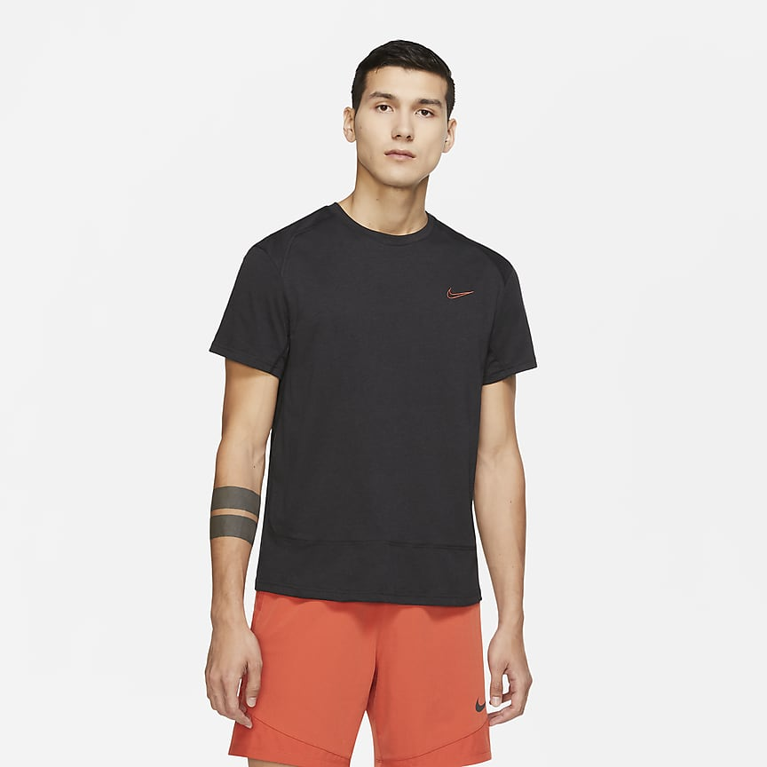 Camisola de treino de manga curta para homem